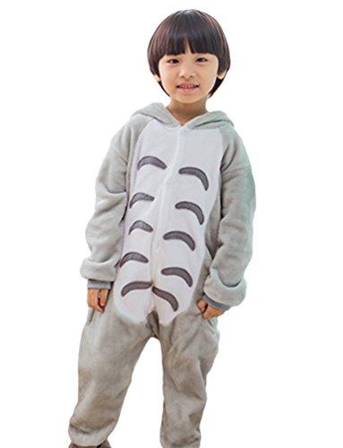 MissFox Unisexe Combinaison Kigurumi Pyjama Enfants Anime Cosplay Fête Costume Nuit Vêtements Totoro 125