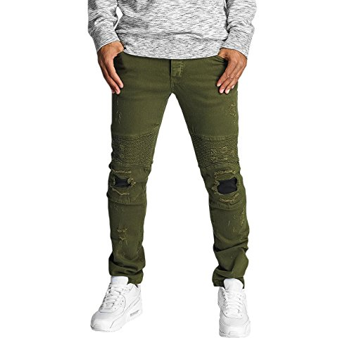 DEF Homme Jeans / Jeans Straight Fit Elom Olive