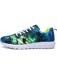 Unisexo Casual zapatilla de deporte Corriendo Respirable Camuflaje Zapato para Mujer y Hombres por ESAILQ