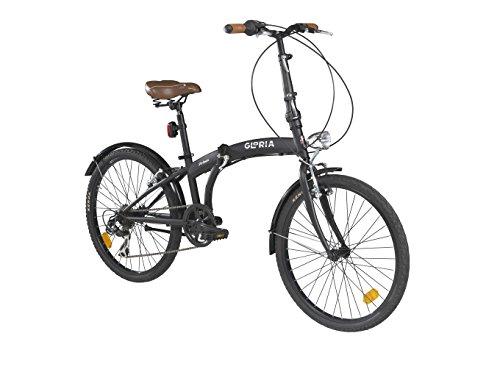 Bici Pieghevole Cicli Gloria 24 Nero Matte Bici Pieghevoleinfo