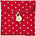 Sunower Women's Portable storage Pouch Sanitary Napkin Holder Bag-3pcs Red