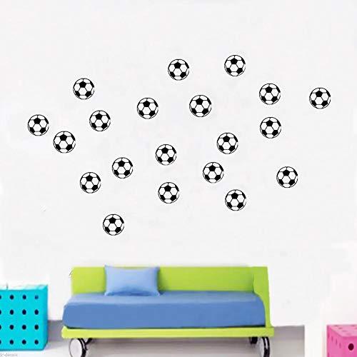 PROKTH Sticker geant mural Decoration chambre Stickers salon Stickers salle bain - pour garcon fille enfants 20 petits ballons de football