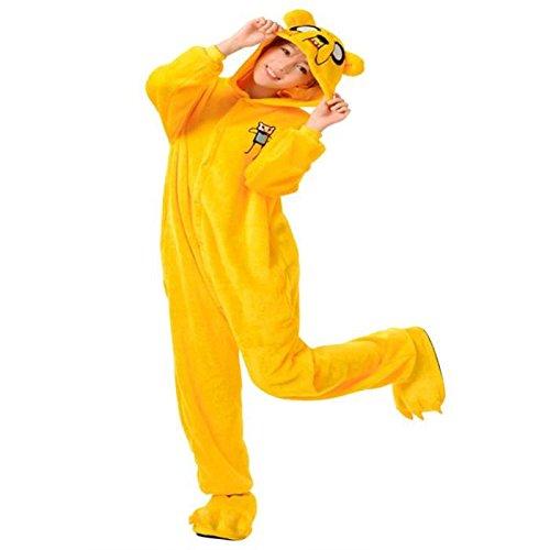 Black Sugar Chien Jack M Kigurumi Pyjama Chien Jack - Genouillère Combinaison Déguisement Adulte Ado - Bonne Qualité - Unisexe en Peluche Doux Confortable (M : 155-163cm)