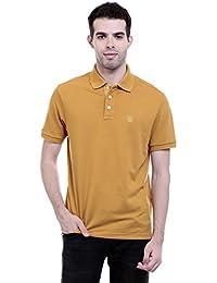 CHKOKKO Cotton Polo Neck Half Sleeves Plain T Shirt For Men