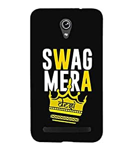 For Asus Zenfone Selfie ZD551KL swag mera desi ( nice quotes, good quotes, quotes, black background, desi ) Printed Designer Back Case Cover By Living Fill