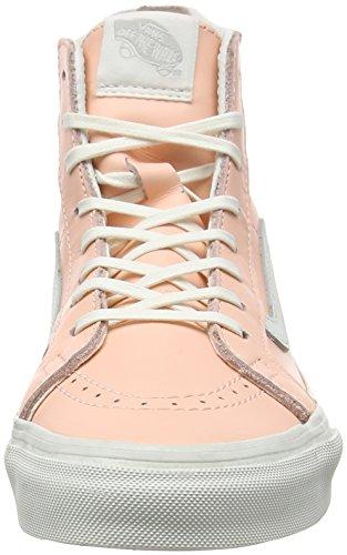 Vans U SK8-HI SLIM ZIP PERF LEATHER, Sneakers Basses mixte adulte Orange (mlx)