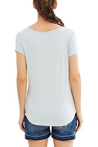 edc by ESPRIT Damen T-Shirt Blau (Pastel Blue 435)