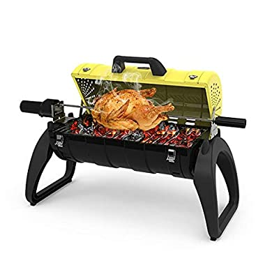 Faltbarer Grillständer Holzkohle BBQ Grill Outdoor Haushalt Camping Grill Regal GW