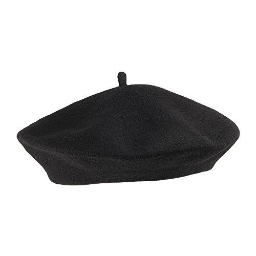 Trendy Black Wool Beret