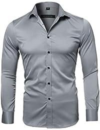 Harrms Camicia Elastica di bambù Fibra per Uomo 8c300dc6f73
