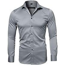 cb04e46ca80a8 Amazon.es  Hombre Camisa Blanca - Gris