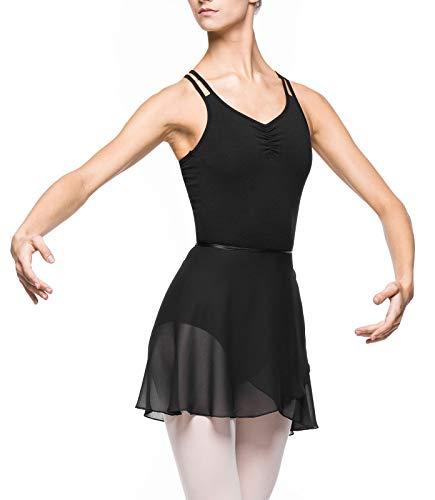 Arabesque Damen Ballett Wickelrock Ballettrock 2007 (S, Schwarz)