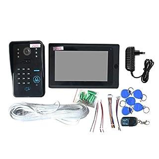 7inch Wired Wifi RFID Passwort Video Türsprechanlage Türklingel Intercom Entry System