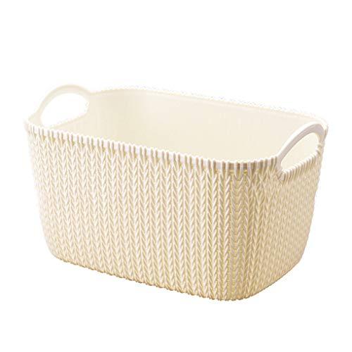 Coconut Coco Multifunktionale Kunststoff Rattan Desktop-Kleinteile Kosmetik Make-up-Organisator-Speicher-Fall-Korb