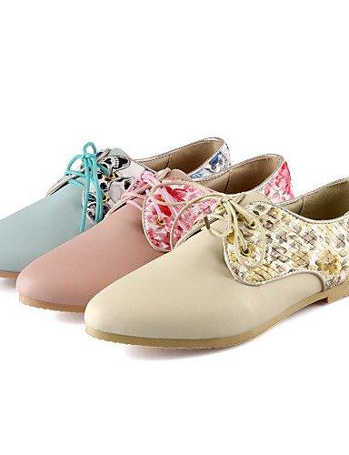ZQ Scarpe Donna - Stringate - Tempo libero / Ufficio e lavoro / Formale / Casual - Comoda / A punta - Piatto - Finta pelle -Blu / Rosa / , pink-us8 / eu39 / uk6 / cn39 , pink-us8 / eu39 / uk6 / cn39 pink-us6.5-7 / eu37 / uk4.5-5 / cn37