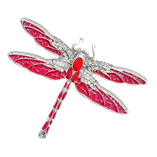 (Fenteer 1 Stück Kristall Libelle Insekt Bug Tier Still Brosche Unisex Mode Modeschmuck Geschenk Broschen Anzug Deko)