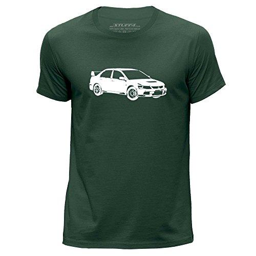 stuff4-uomo-piccolo-s-verde-scuro-girocollo-t-shirt-stampino-auto-arte-evo-ix-9