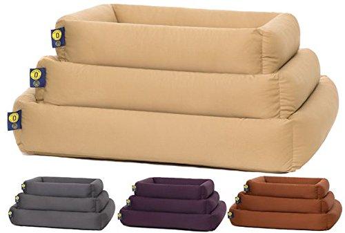 Hundebetten-Set mit Hundekissen groß Premium Qualität Made in Germany im Ganzen Bei 90° Waschbar Verschiedene Farben und Größen ... (L, Beige)