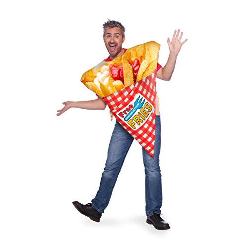 Folat 64010 Pommes Chips Essen Kostüm Erwachsene (Chips Kostüm)