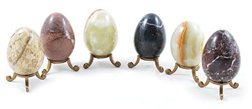 Ensemble de 6 x 7,6 cm oeufs en marbre de l'Himalaya