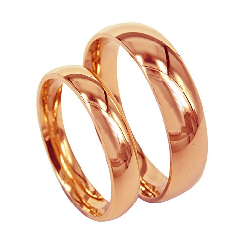 Everstone fede nuziale anello di coppia anello di fidanzamento titanio oro rosa taglia 7-37