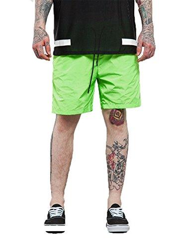 Preisvergleich Produktbild hippolo Herren Dry Fit Performance Boardshorts Wasser Sport Beach Short mit Taschen Blend grün XXL