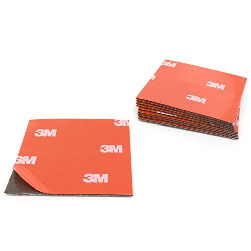 3M 4229P Acrylschaum Klebepads/Klebeband, doppelseitig, 50x50mm, 10 Stück - Befestigung ohne Bohren