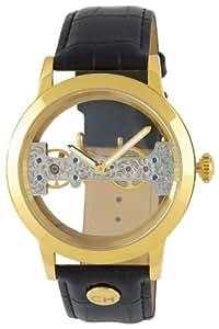 Carlo Monti Armbanduhr für Herren mit Analog Anzeige, Handaufzuguhr mit Lederarmband - Wasserdichte Herrenuhr mit zeitlosem, schickem Design - klassische Uhr für Männer - CM109-282 Lucca