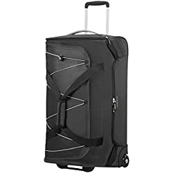 American Tourister Road Quest Wheeled Duffle Medium Bolsa de Viaje, 67 cm, 75 Liters, Gris (Black/Grey)