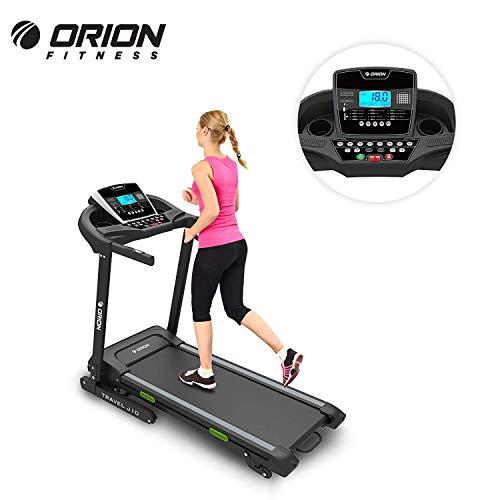 """ORION TRAVEL J10 elektrisches Klappbar Laufband für fitness, automatische Steigung auf 15 Ebenen, 5\""""LCD-Computer, Höchstgeschwindigkeit 16 km / h, Motor mit 2 PS (3 PS Spitzenleistung)"""
