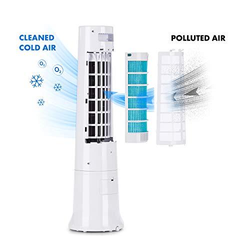 Klarstein Highrise • Klimagerät • Ventilator • Luftkühler • Luftkühler-Ventilator-Kombi • 35 W • zuschaltbarer Oszillationsfunktion • 3 Leistungsstufen • 2.5 Liter Tank • inkl. Fernbedienung • weiß