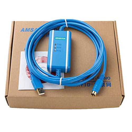 1Pack Kompatibel mit MITSUBISHI Q Series Programmierung Kabel Daten Download Kommunikation Kabel usb-qc30r2mit Optokoppler Isolation USB zu RS232Adapter für Melsec Q PLC Daten Rs232-transceiver