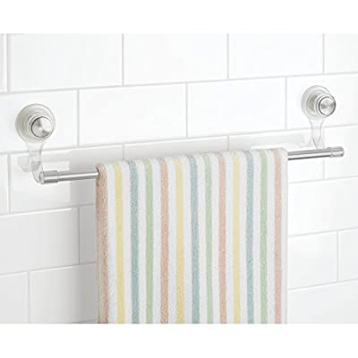 InterDesign Large Power Lock Ultra Bath Towel Bar, Clear/Silver - low-cost UK bar stool store.