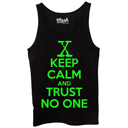 Canotta KEEP CALM AND TRUST NO ONE X-FILES - FILM by Mush Dress Your Style Nera
