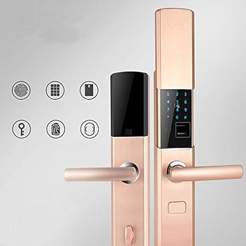 RM Slider Empreinte Digitale Verrouillage Haut de Gamme Porte de Sécurité à Domicile Verrouillage Intelligent Serrure Porte Verrouillage Carte Magnétique Électronique Projet Téléphone Mobile App,UNE