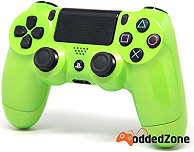 Lime Green Ps4 Modded Controller 35 mods BO2, BO3, Advanced Warfare, Destiny, Ghosts, MW3 Rapid Fire QUICKSCOPE, JITTER, DROP SHOT, AUTO AIM ZOMBIE