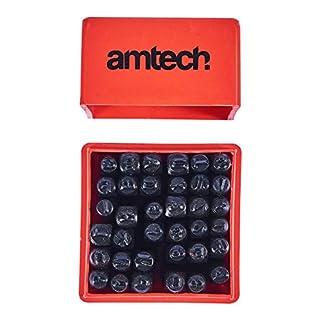 Am-Tech 36 Stück Number und Letter Punch Set, H0500