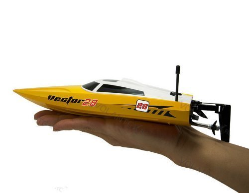 vector28-24ghz-radio-remote-control-micro-high-speed-rc-racing-boat-speed-boat-rtr-yellow-by-midea-t