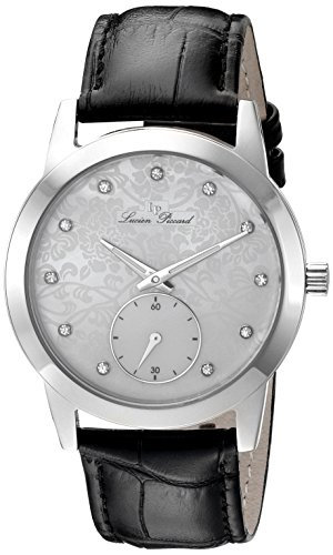 lucien-piccard-womens-quartz-watch-with-white-dial-analogue-display-and-black-leather-strap-lp-40037