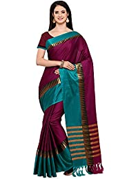 AppleCreation Women's Cotton Silk Saree With Blouse Piece (sarees New Collection KVS131E_Purple)