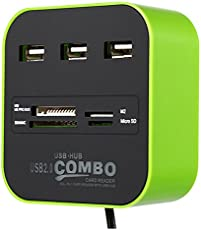 Buychoice All in 1 Card Reader with 3 Port USB Hub