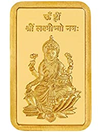 Kundan 24k (999.9) 5 gm Lakshmi Ji Yellow Gold Bar