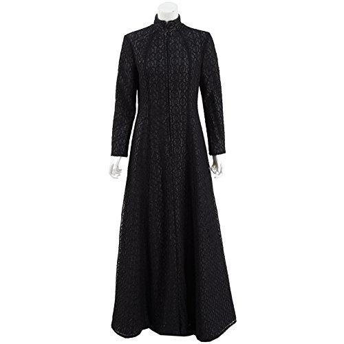 Damen Schwarz Lang Kleid Berühmt Film-Charakter Kleid Cosplay Kostüm (M)