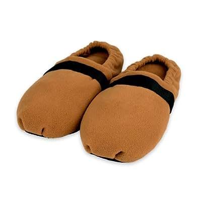 Zhu-Zhu Cozy Toes Microwavable Slippers (M) - Camel Fleece