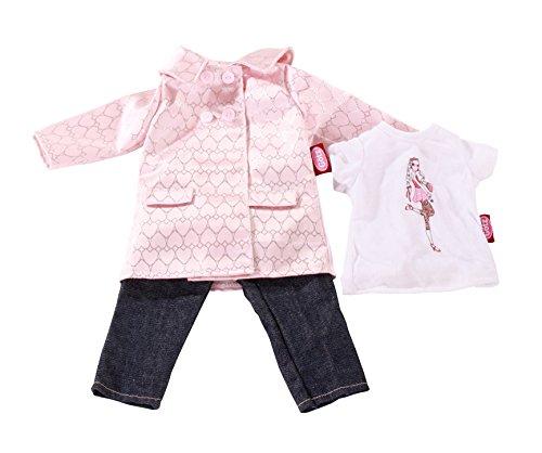 Götz 3402301 Carla Jeanskombination in Town - 3-teiliges Bekleidungsset für Stehpuppen mit einer Größe von 45 - 50 cm - bestehend aus Mantel, Jeans und T-Shirt - geeignet für Kinder ab 3 Jahren