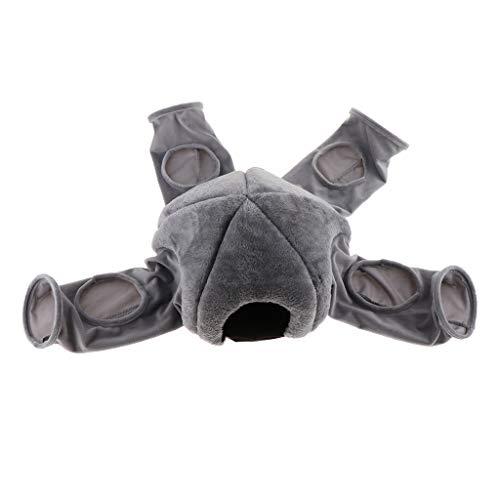 SM SunniMix Kleintier Tunnel Haus Nest Spielzeug für Hamster Meerschweinchen Chinchilla Maus Frettchen - Grau