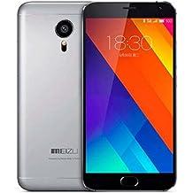 """Meizu MX5 - Smartphone de 5.5"""" (WiFi, 4G LTE, Octa Core, 3 GB de RAM, 16 GB memoria interna, cámara de 20.7 MP + 5 MP) color gris claro"""