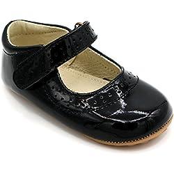 Shimmy Shoes Mary Jane Partyschuhe für Babys und Kleinkinder Kinderschuhe aus hochwertigem schwarzem Lackleder (EU Größe 23)