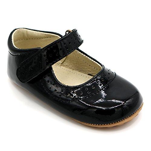 Klassische Mary Janes (Shimmy Shoes Mary Jane Partyschuhe für Babys und Kleinkinder von Kinderschuhe Aus Hochwertigem Schwarzem Lackleder (EU Größe 23))