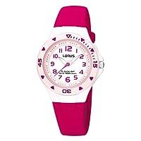 Lorus Meisjes analoog kwarts horloge met siliconen armband R2339DX9